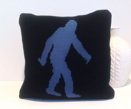 Custom Made Bigfoot Knit Pillow Cover