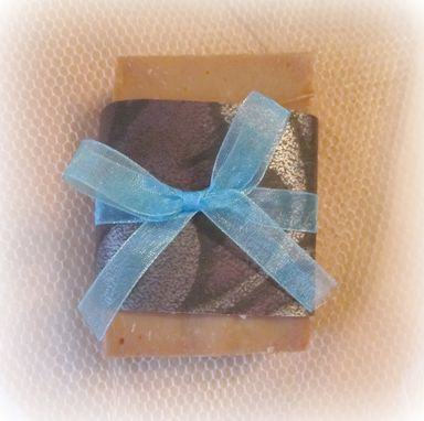 Custom Made Hand Made Soap,French Lavender Scented,Three 3-4 Ounce Bars,Wrapped W/ Ribbon Bow,Decor,Functional