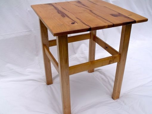 Custom Made Reclaimed Black Locust & Flame Maple End Table