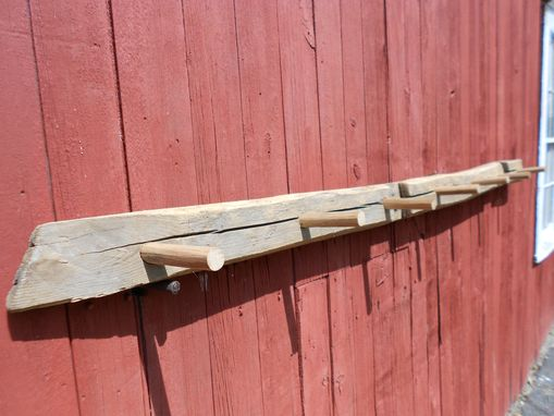 Custom Made Reclaimed Chestnut Beam Coat Rack