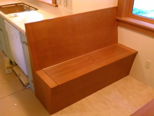 Custom Made Douglas Fir Storage Bench Dining Area