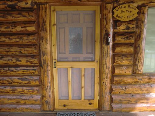 Custom Made Cedar Screen Door