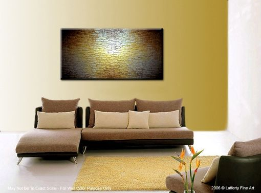 Custom Made Gold Palette Knife Painting, Original Abstract Art, Bronze Large Painting, By Lafferty - 24x48