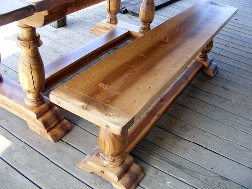 Custom Made Beautiful Draw Leaf Extension Dining Table And Matching Bench