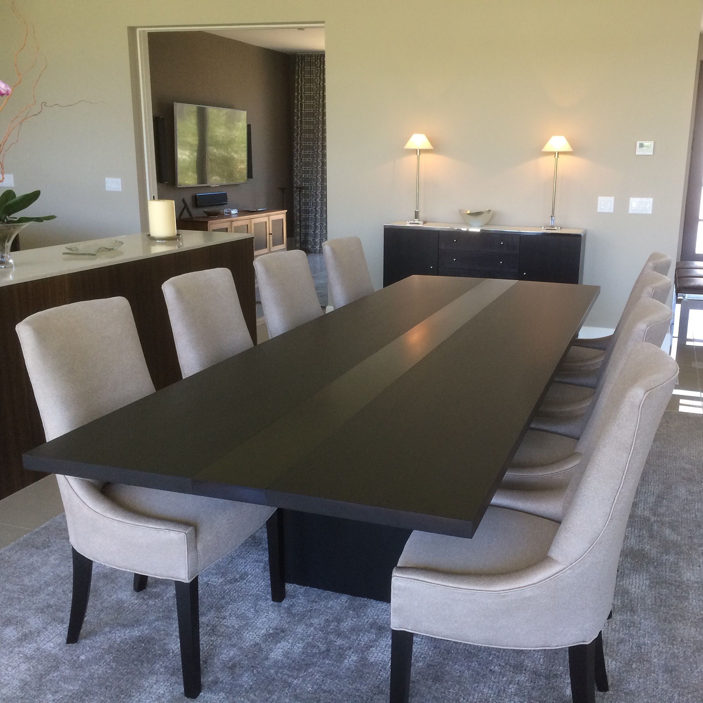Handmade modern dining table by bedre woodworking for Modern dining room table