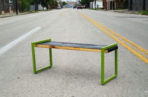 Custom Made Green Slab Bench