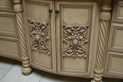 Custom Made Custom Faux Finish Master Bathroom Cabinets.
