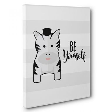 Custom Made Be Yourself Nursery Canvas Wall Art