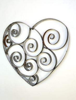 Custom Made Ring Art - Tresna - Small Wine Barrel Ring Heart W/Swirls