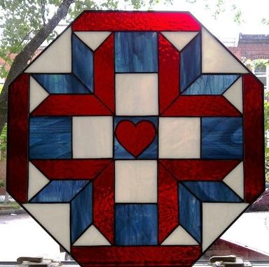Custom Made Stained Glass Quilt Design (W-9)