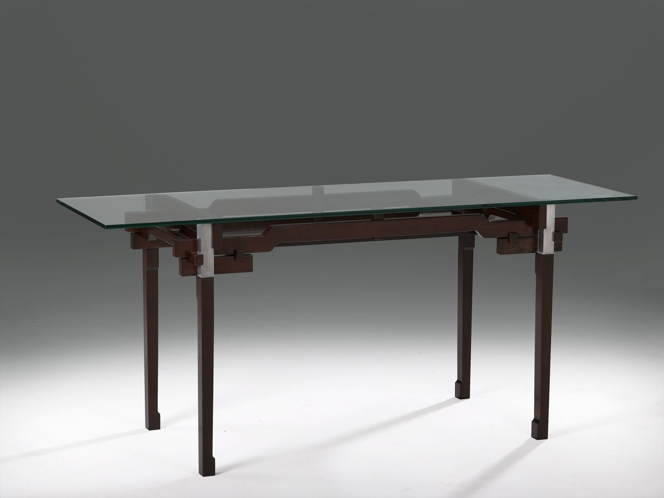 Custom Modern Glass And Wood Desk By Mark Wilson Furniture