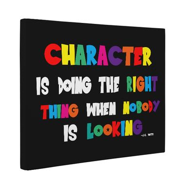 Custom Made Character Is Doing The Right Thing Classroom Canvas Wall Art