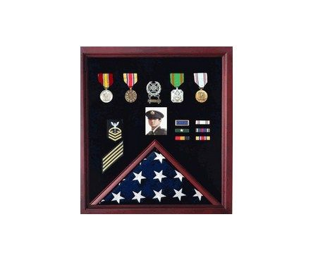 Custom Made Officers Flag Display Case Plus Photo Fit 5ft X 9.5ft Flags