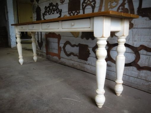 Custom Made White Console Table