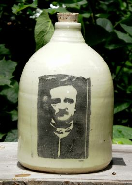 Custom Made Edgar Allen Poe Moonshine Jug
