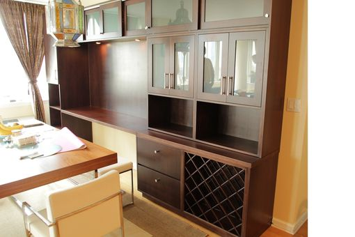 Custom Made Contemporary/Post Modern Dinning Room Built In Hutch And Display