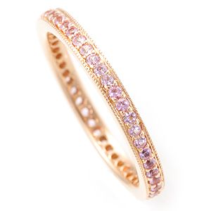 Custom Made Pink Sapphire Eternity Ring In 14k Rose Gold, Eternity Ring, Colored Stone