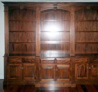 Hand Crafted Mahogany Wall Unit By Meisterbuilders Inc