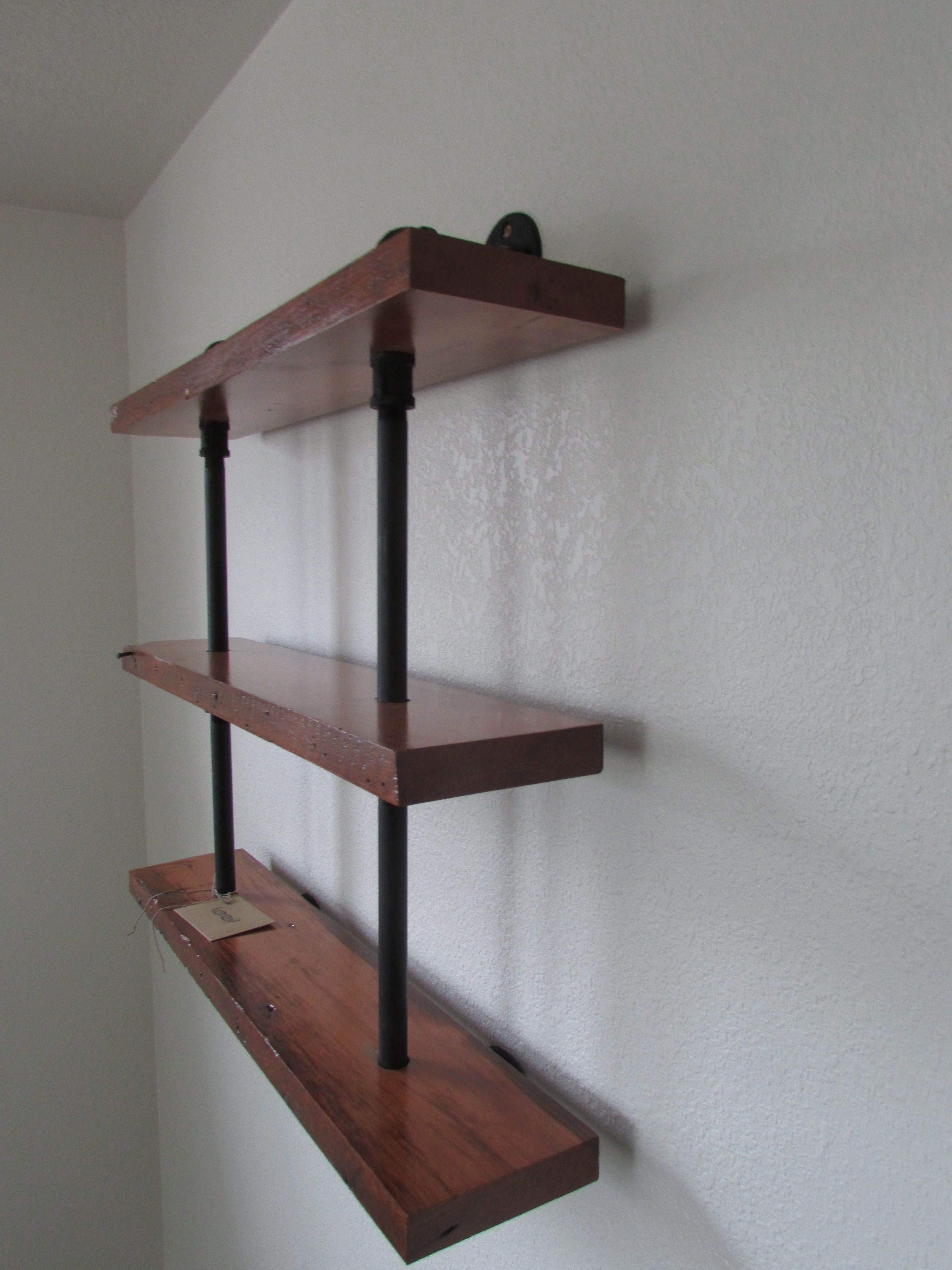 Custom Made Reclaimed Wood And Pipe Shelving Unit By