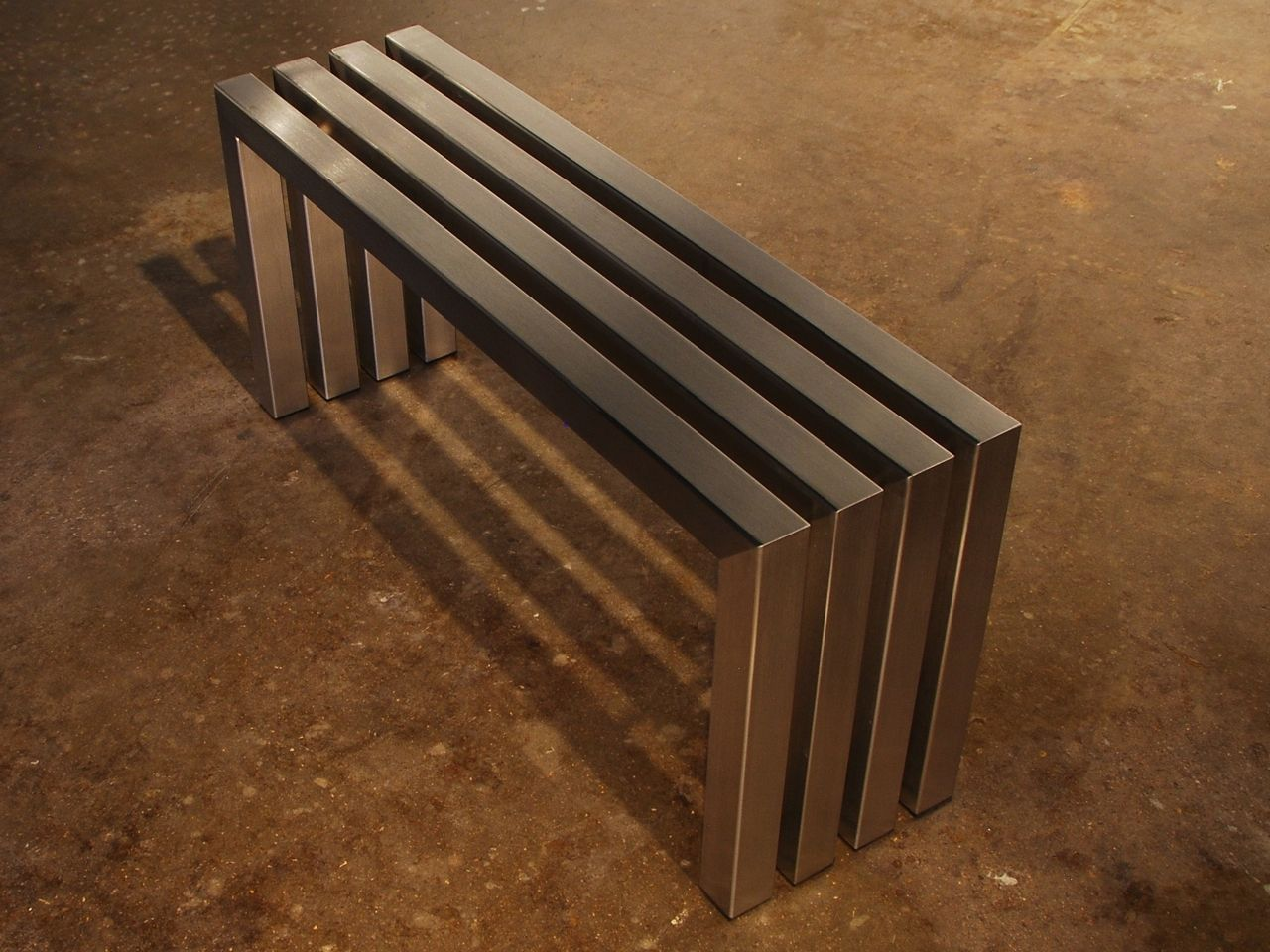 Modern outdoor bench - Custom Made Linear Stainless Steel Bench Modern Indoor Outdoor Bench Fully Welded From Substantial Stainless