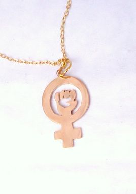Custom Made Raised Fist Of Feminism Necklace