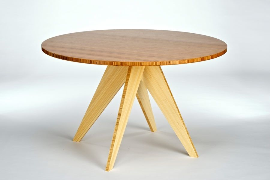 Furniture Dining Room Kitchen Dining Tables Round Dining Table Bamboo