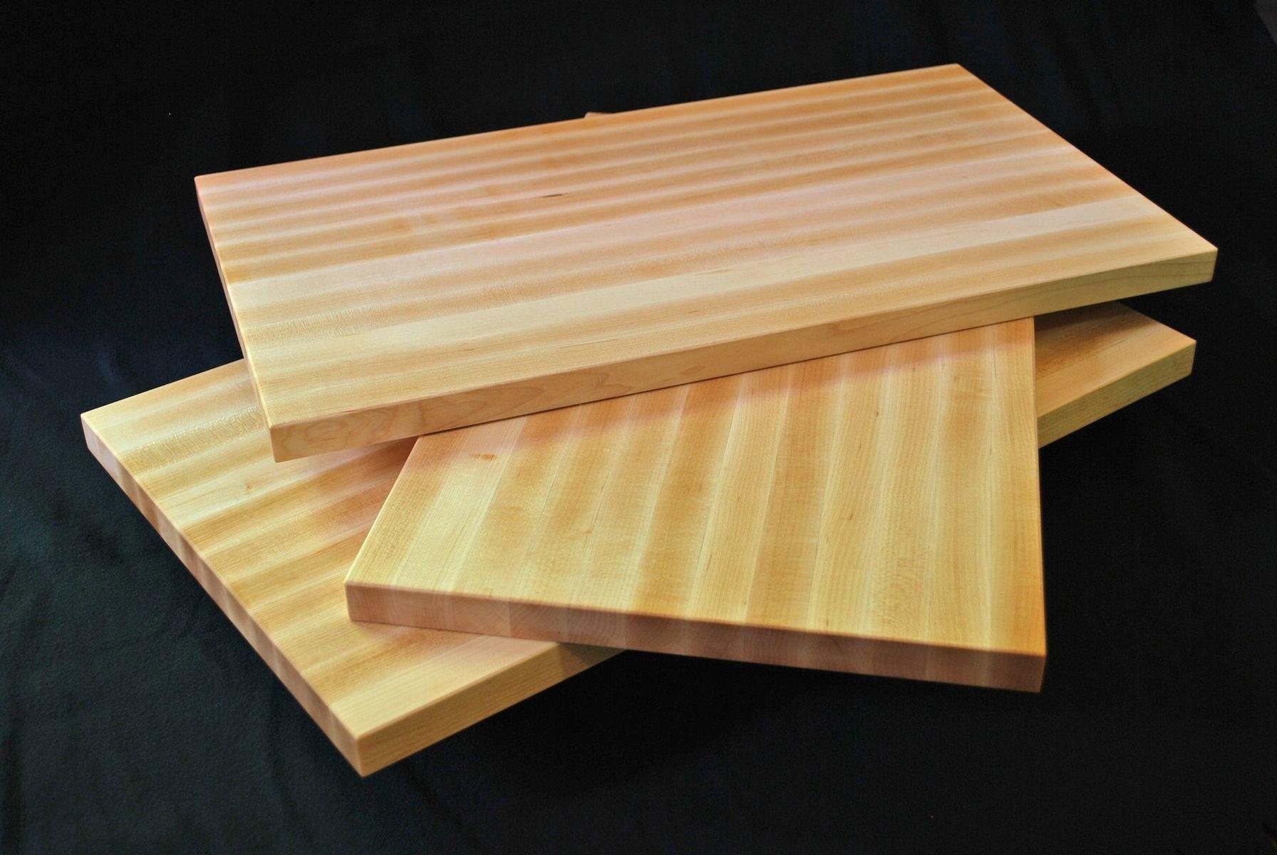 Wood Edged Board ~ Custom made edge grain cutting board solid maple by clark