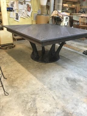 Custom Made Very Unique Hand Sculpted Pedestal Dining Table