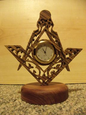 Custom Made Scrolled Freemason Clock