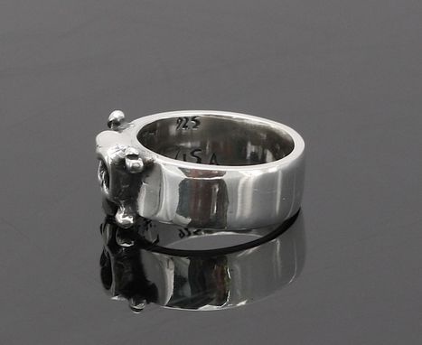 Custom Made Skull Band Louie In Sterling Silver - Wedding - Engagement