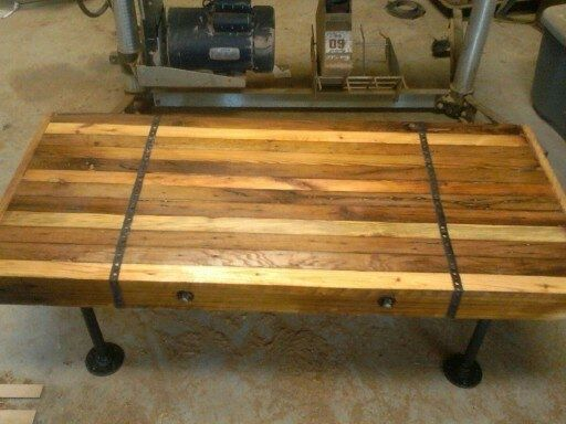 Custom Made Rustic Industrial Coffee Table