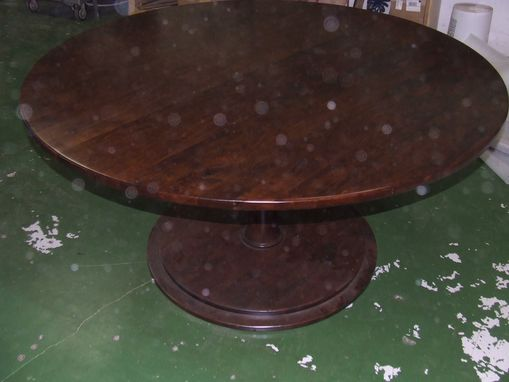 "Custom Made 60"" Round Pedestal Table"