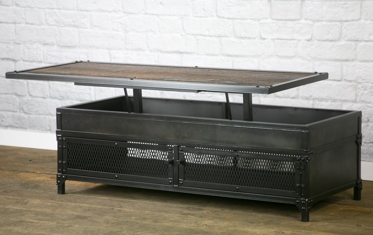 Metal Lift Top Coffee Table 7