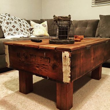 Custom Made Reclaimed Fruit Crate Coffee Table