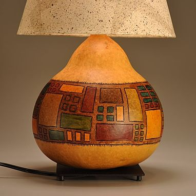 Custom Made Gourd Lamp Asian Design