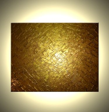 Custom Made Abstract Gold Original Painting Sale 22% Off - Free Shipping
