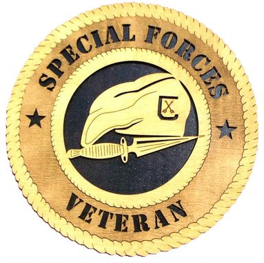 Custom Made Special Forces Veteran Wall Tribute, Special Forces Veteran Hand Made Gift