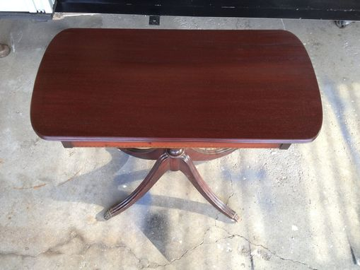 Custom Made Mahogany (Veneer) Table Repair & Refinish
