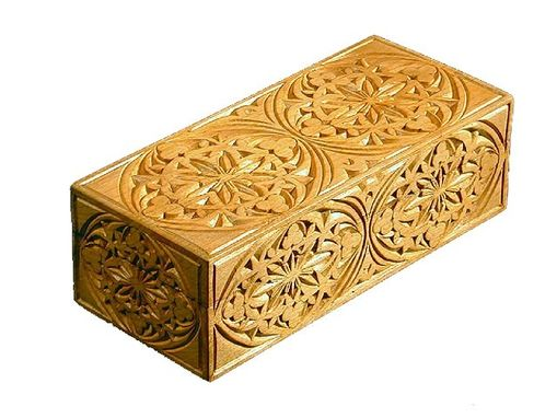 Custom Made Hand-Carved Matchbox