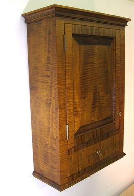 Custom Made Tiger Maple Spice Cabinet Wall Cupboard