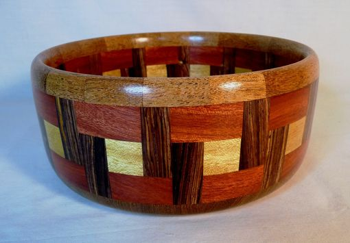 Custom Made Segmented Wooden Bowl