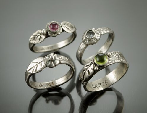 Custom Made Floral Stacking Rings