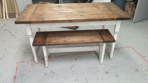 Custom Made Farmhouse Table With Turned Legs