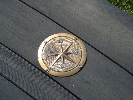 Custom Made Bronze Compass Rose