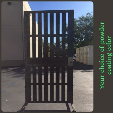 Custom Made Geometric Vertical Modern Urban Design Steel Pedestrian Gate