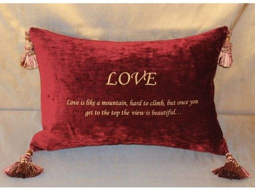 Custom Made Specialty: Love Pillow
