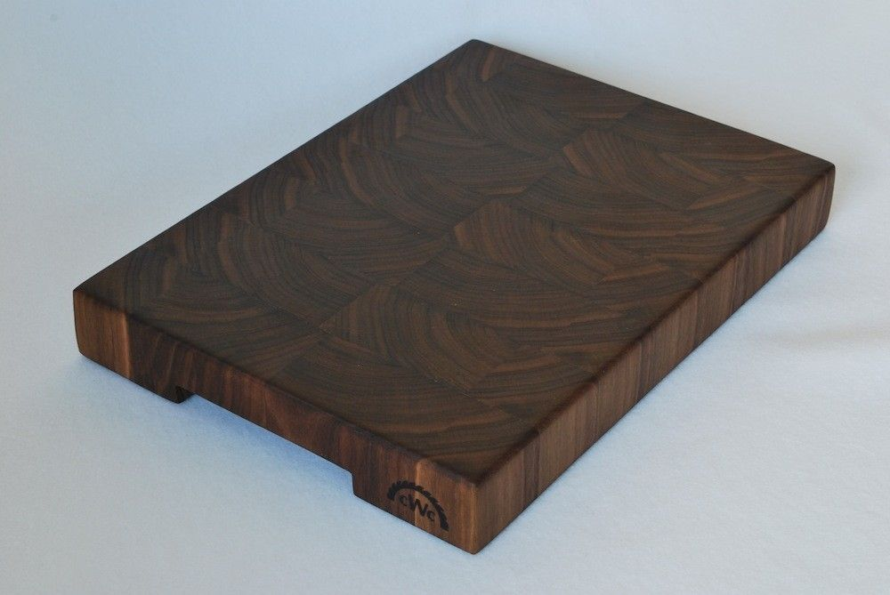 Custom Made Solid Walnut End Grain Butcher Block Cutting Boards