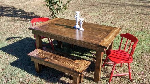 Custom Made Farmhouse Dining Table & Benches