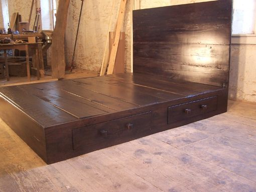 Buy A Hand Made Reclaimed Wood Platform Bed Made To Order