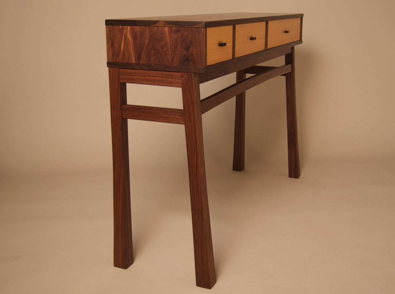 Douglas Fir Kitchen Cabinets Custom Made Console Table In Walnut Douglas Fir By Joseph Murphy